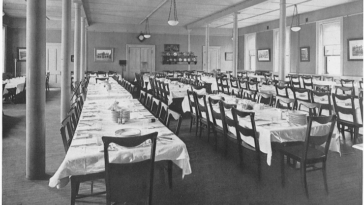Historic image of the Dean College Dining Hall